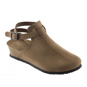 Hakiki Deri Kum Platform Kadın Sandalet QK034